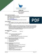 0PHRM 5202 Course Syllabus