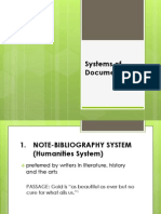 Systems of Documentation
