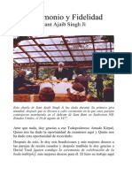 Matrimonio y Fidelidad Por Sant Ajaib Singh