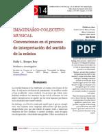Icono14. Nº14. Imaginario colectivo musical. Convenciones en el proceso de interpretación del sentido de la música