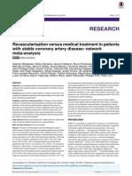 Metaanalisis Revascularizacion vs Tto Medico