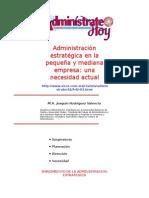 Administración Estratégica en La Pequeña y Mediana Empresa