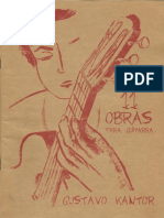 11 Obras Para Guitarra - Gustavo Kantor