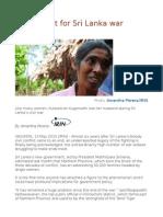 Help at Last for Sri Lanka War Widows
