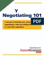 Salary negotiating 101