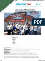 08-05-15 Dignificará Maloro a Usuarios de Transporte Urbano