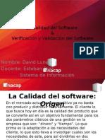 Calidad Del Software & Validacion y Verificacion Del Software