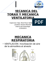 Biomecanica del Torax y Mecánica ventilatoria