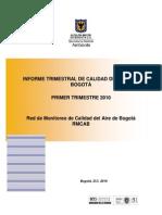 Calidad Aire Bogota Informe Trimestre 1-SDA-2010