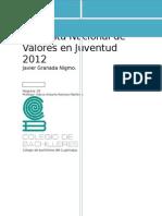Encuesta Nacional de Valores en Juventud 2012