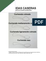 MEDIDAS CASERAS