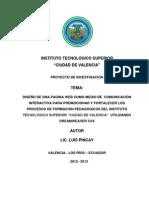 Proyecto Pagina ITSCV