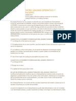 Diferencias Entre Leasing Operativo y Leasingo Financiero