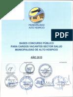 Bases Concurso Publico, Sector Salud 2015