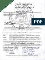 mi notarized certificate