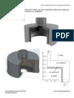 Deformaciones de origen termico y estado tensional. Horno Simplificado, modelado Axisimetrico en ABAQUS