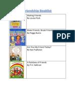 friendship booklist