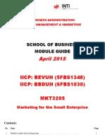 Module Handbook_MKT3205_April 2015_Lum Li Sean(Sri's Update)