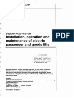 CP2 - 2000 - Installation,Operation & Maintenance of Electric Passenger and Goods Lift
