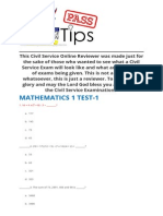 math reviewer ratio number analogy civil service exam reviewer