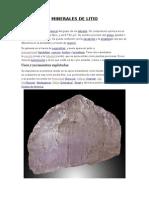 Minerales de Litio