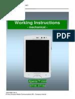 Sony Ericsson ST15 Xperia Mini Working Instructions - Mechanical Rev3