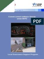 Contoh-contoh Indikator Kinerja Untuk Skpd