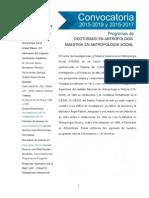 Convocatoria CIESAS 2015 2017