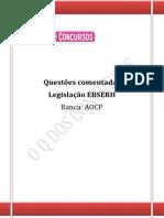 Questões Comentadas Aocp Leg Ebserh