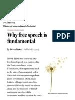 Why Free Speech is Fundamental - Opinion - The Boston Globe