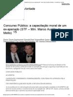 Concurso Público_ a Capacitação Moral de Um Ex-Apenado (STF – Min