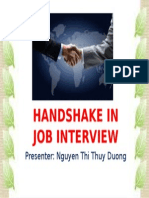 A good handshake in job interview