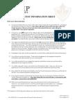 Pre Test Information Sheet 2014