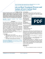 Study and Analysis on Heat Treatment Process and Microstructure of Low Carbon Steel