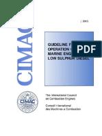 CIMAC SG1 Guideline Low Sulphur Diesel
