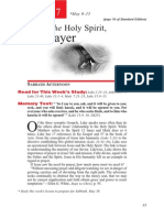 2nd Quarter 2015 Lesson 7 Teachers Edition Jesus the Holy Spirit and Prayer
