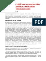 Europa de 1815 Hasta Nuestros DÃ-As Vida PolÃ-tica y Relaciones Internacionales (1)