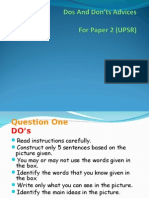 Do's and Don'Ts Upsr Paper 2