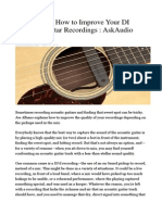 How to Improve Your DI Acoustic Guitar Recordings