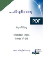 3 Who Drug Dictionary