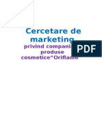 Cercetare de Marketing Oriflame