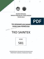 Sbmptn 2014 Saintek 581