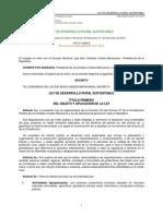 2012 Ley de Desarrollo Rural Sustentable