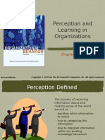Chap 003- Perception and Learning in Organizations