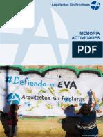 Memoria Actividades ASF MADRID 2014