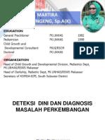 Deteksi Dini Dan Diagnosis Masalah Perkembangan