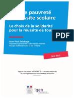 Rapport IGEN-mai2015-Grande Pauvrete Reussite Scolaire 421527