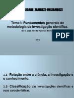 Fundamentos de Metodologia Da Investigação