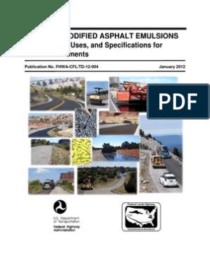 02 Polymer Modified Asphalt Emulsions Main Report | Litre