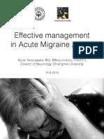 Acute Migraine Management, Chiangmai 2015